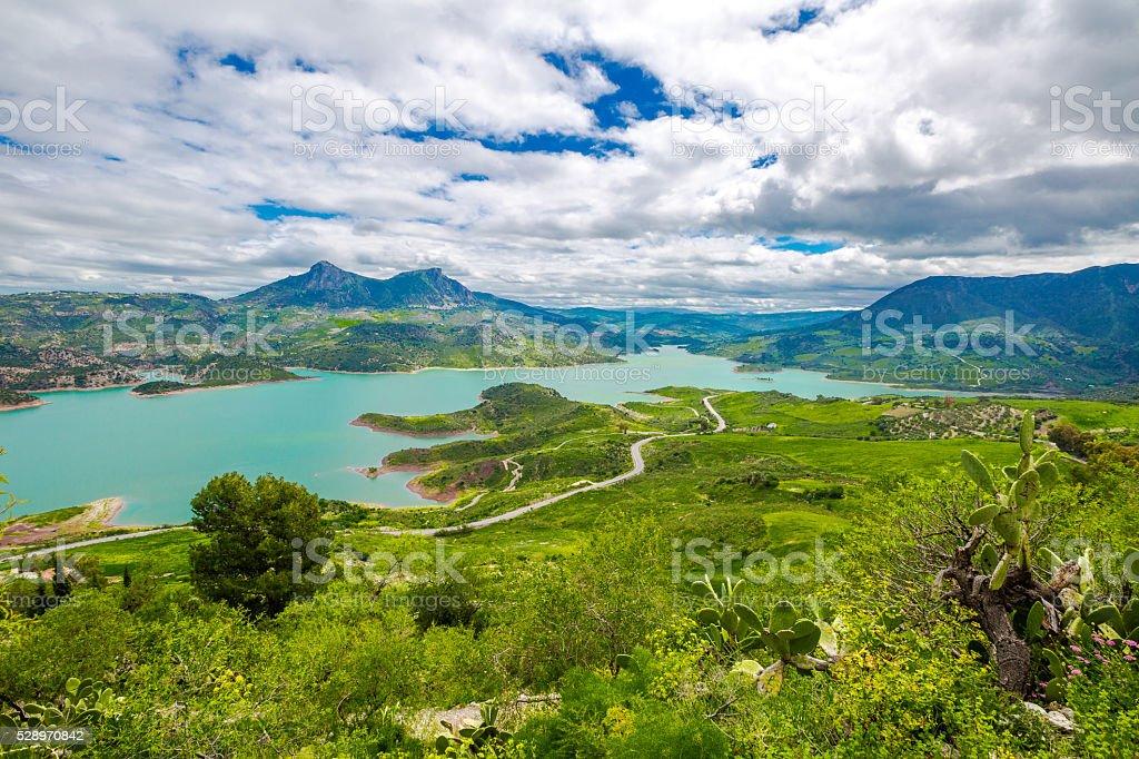 Lake Zahara Andalusia stock photo