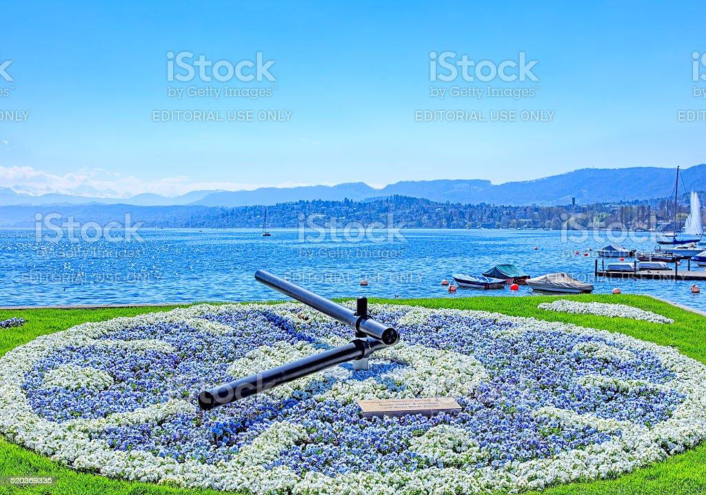 Lake Zurich stock photo