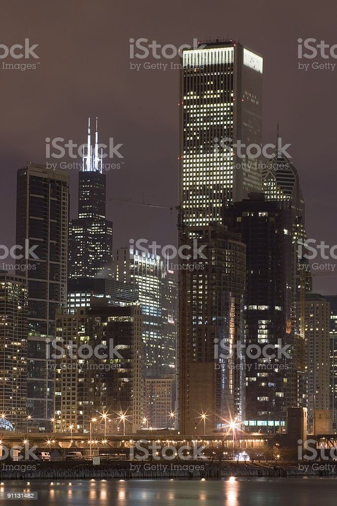 Lakefront and downtown Chicago royalty-free stock photo