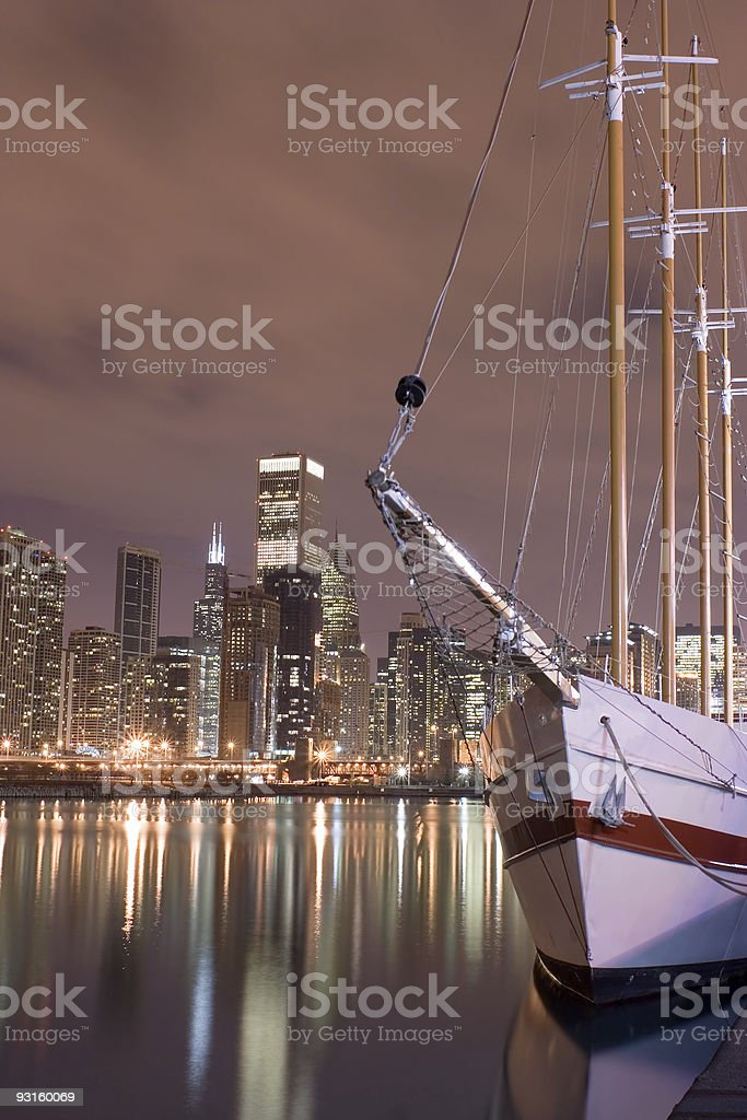 Lakefront and downtown Chicago stock photo