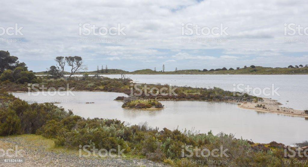 Lakefront at Rottnest Island stock photo