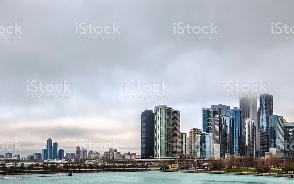 Lakefront Chicago. stock photo