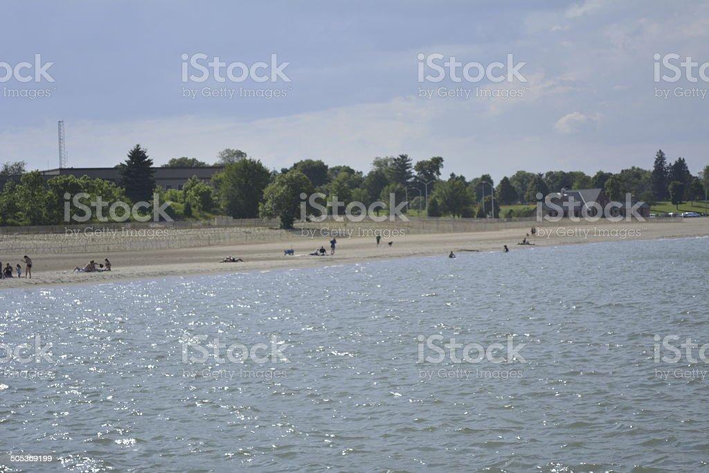 Lakefront stock photo