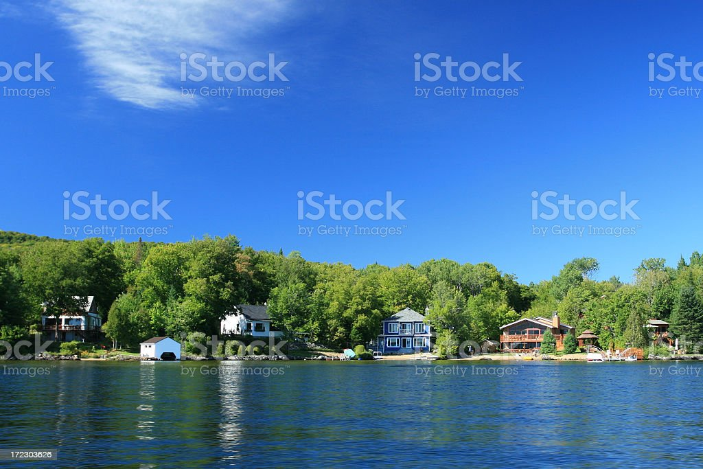 Lakefront Property on Sunny Day of Summer royalty-free stock photo