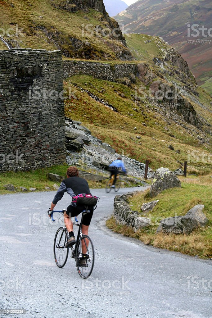Lakeland Downhill Cyclists royalty-free stock photo