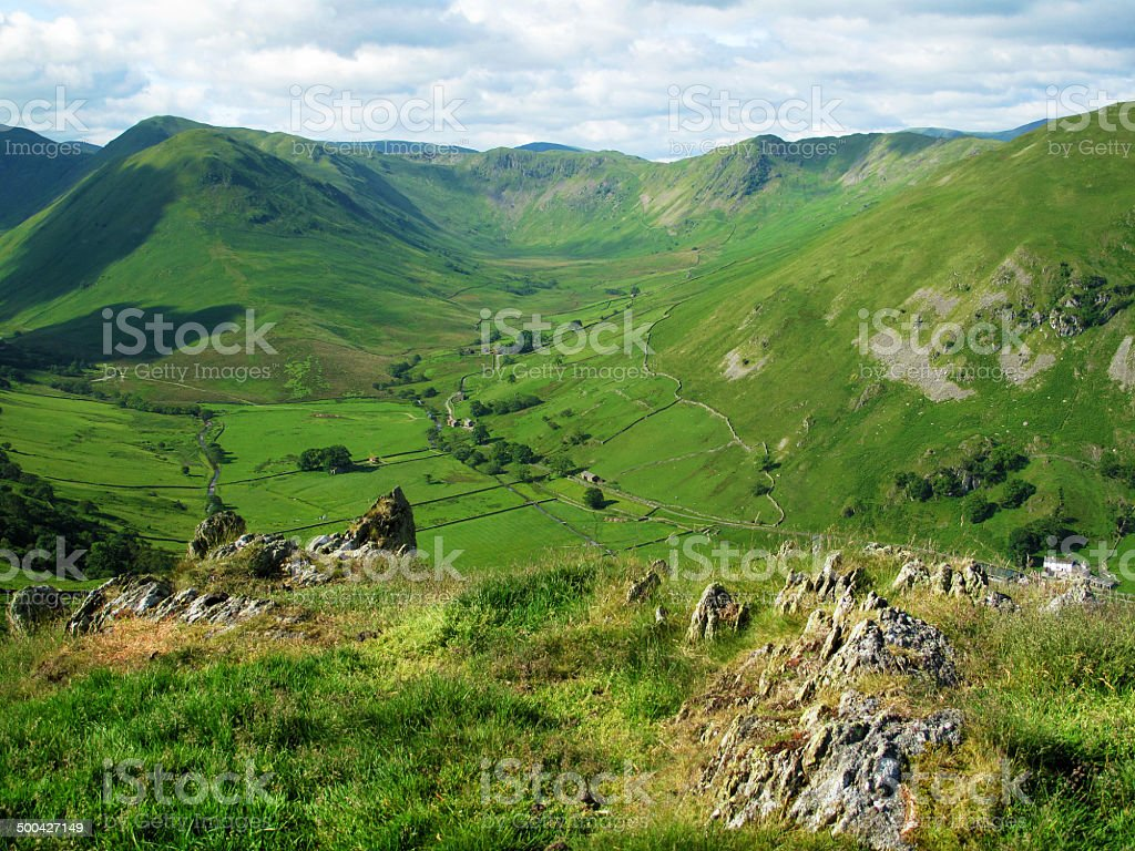 Lakeland Scenic and Glacial Valley royalty-free stock photo