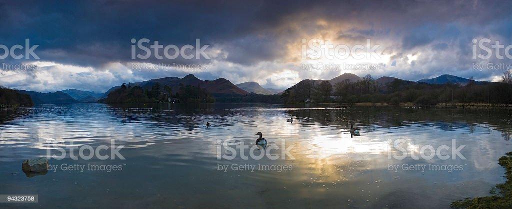 Lakeland sunset stock photo