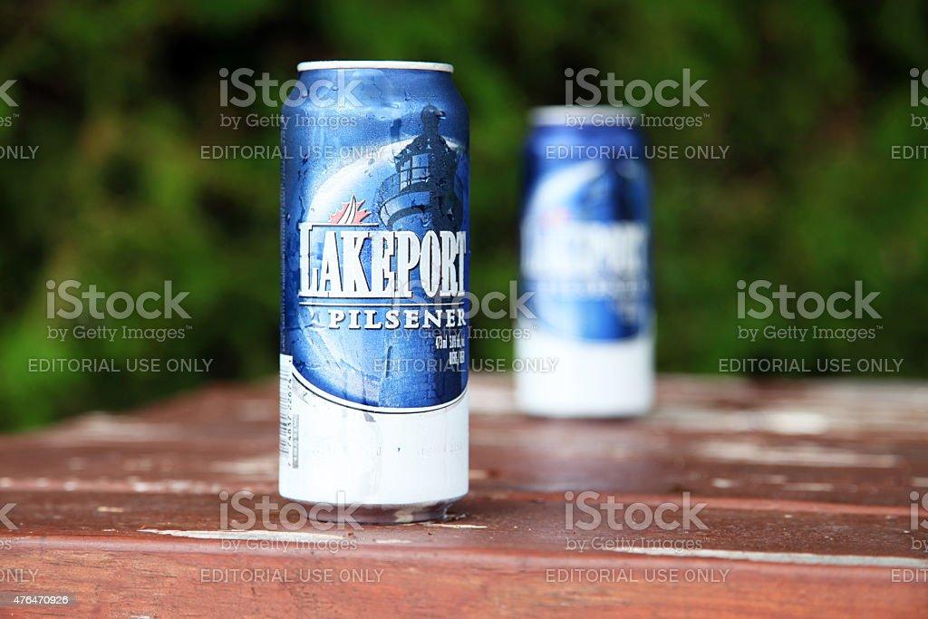 Lakeport Pilsener stock photo