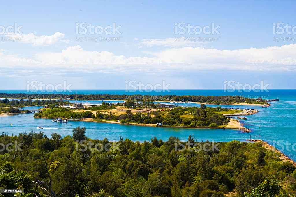 Lakes Entrance, Australia stock photo