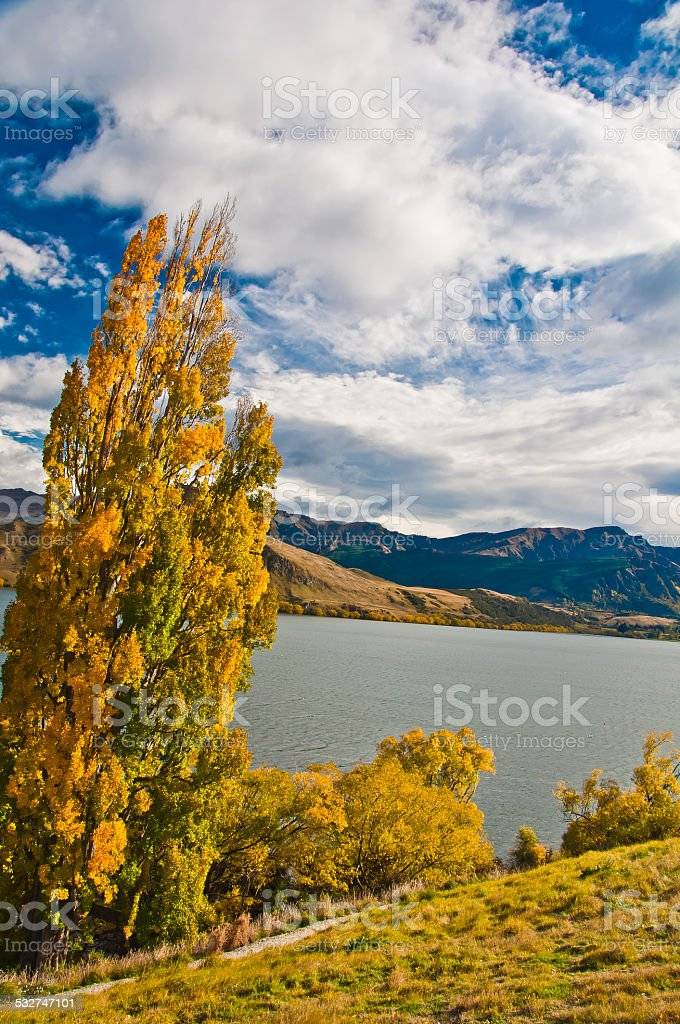 Lakes Hayes, New Zealand stock photo