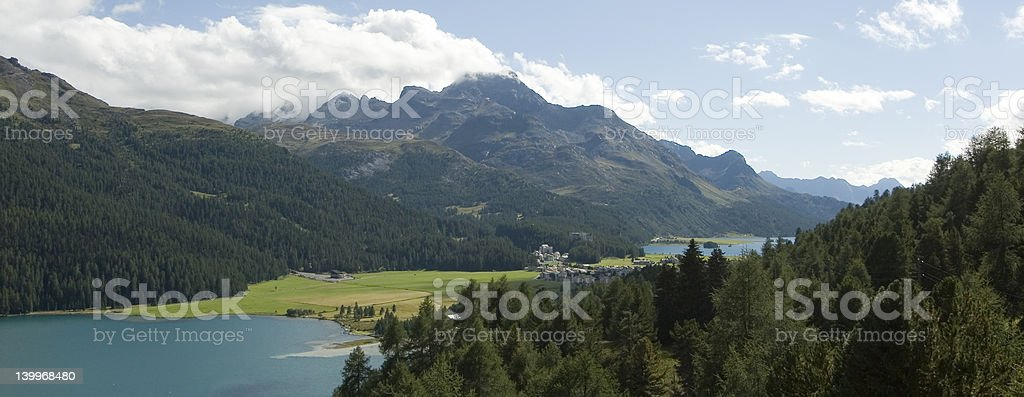 Lakes in Swiss Alps royalty-free stock photo