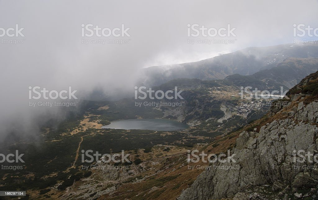 Lakes in the clouds! royalty-free stock photo