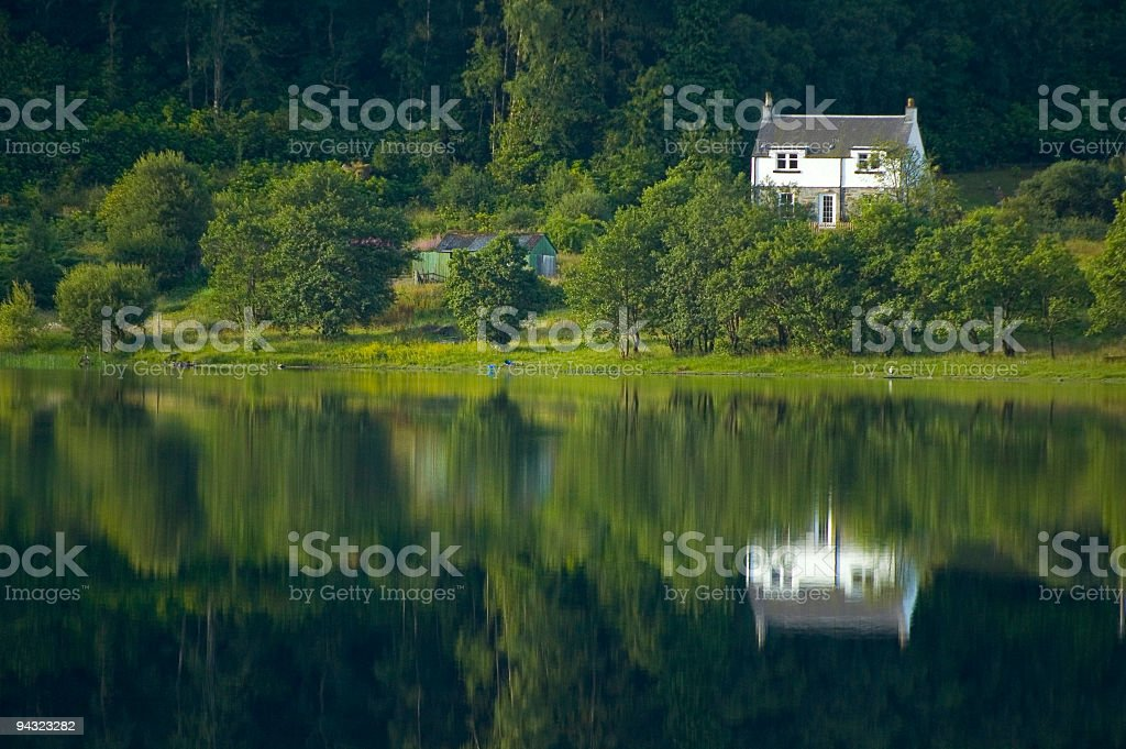 Lakeshore lodge royalty-free stock photo