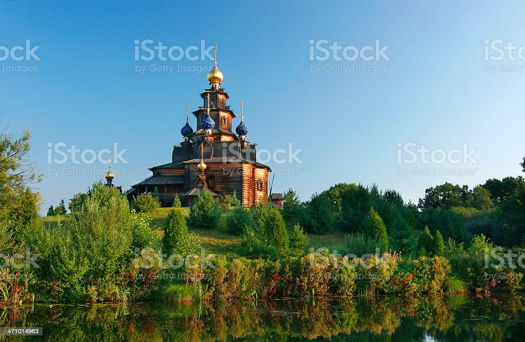 Lakeshore Russian Church stock photo