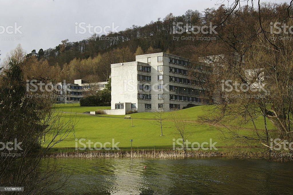 Lakeside apartments stock photo