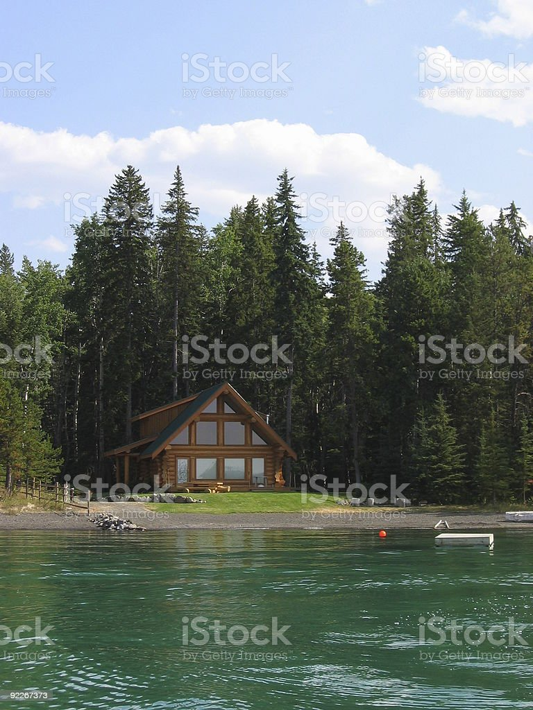 Lakeside Cabin royalty-free stock photo