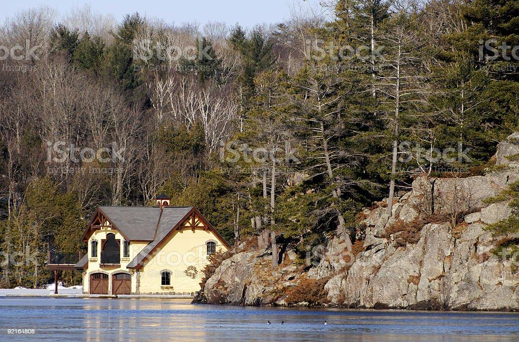 lakeside cottage royalty-free stock photo