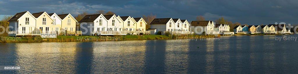 Lakeside development royalty-free stock photo