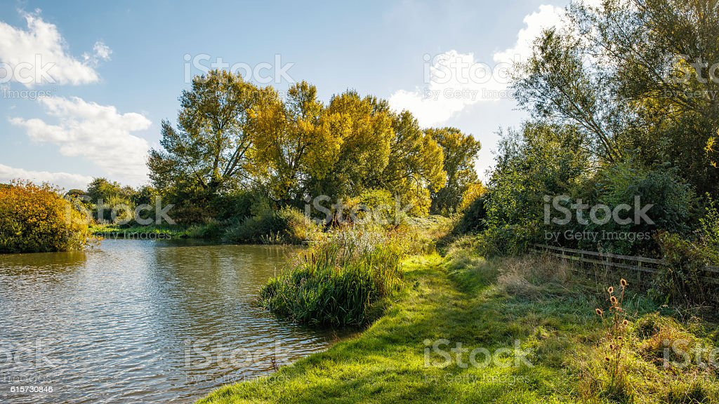 Lakeside in Early Autumn stock photo
