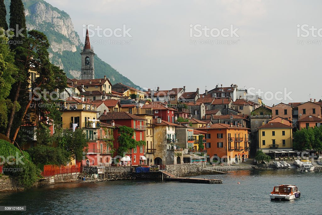 Lakeside Italian Villas stock photo