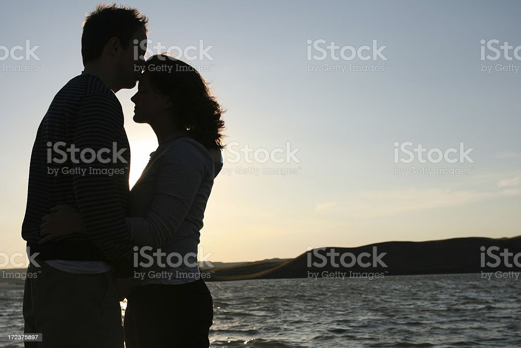 Lakeside Kiss stock photo
