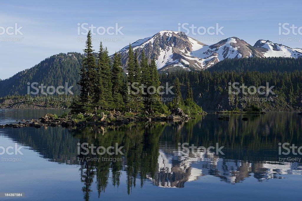 Lakeside Peak stock photo