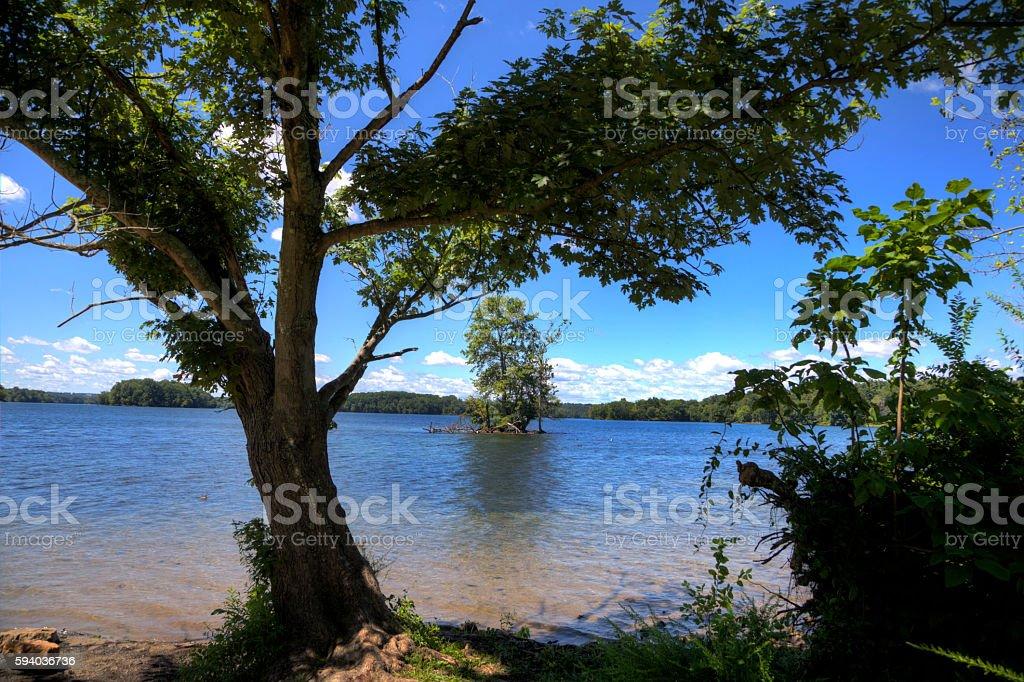 Lakeside stock photo