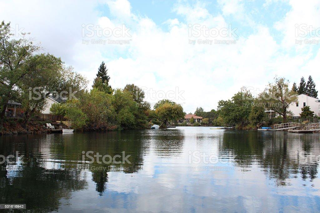 Lakeside Residence stock photo