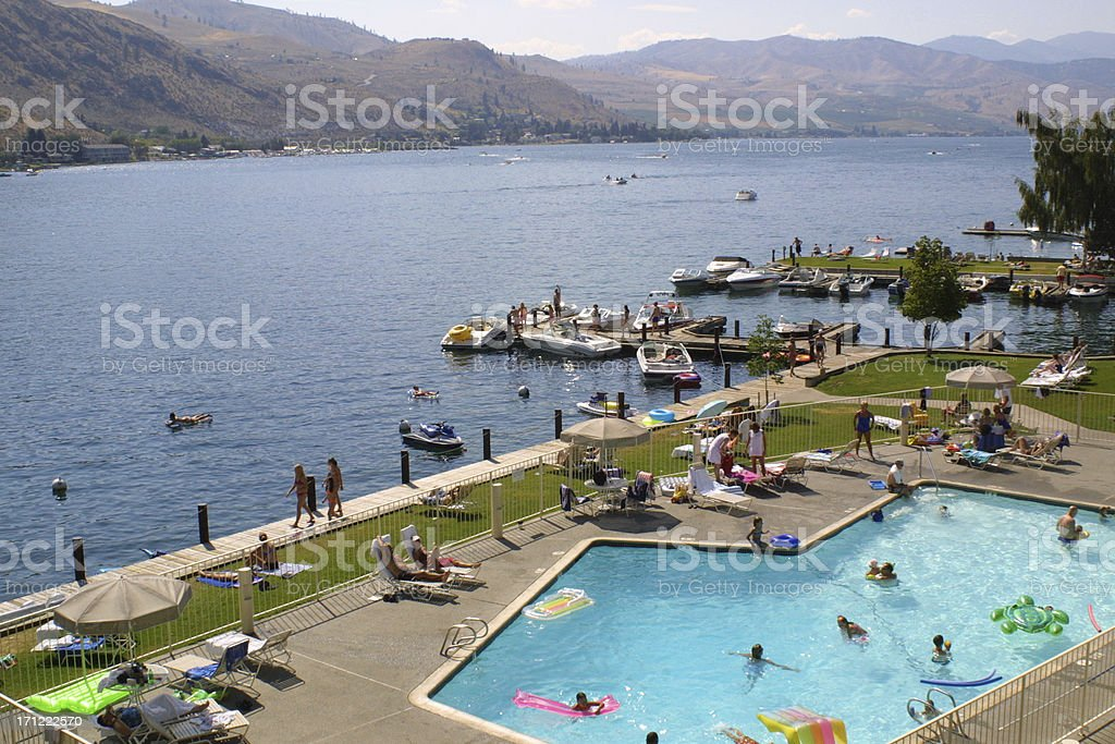 A Lakeside Resort stock photo