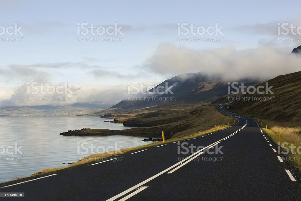 Lakeside road royalty-free stock photo