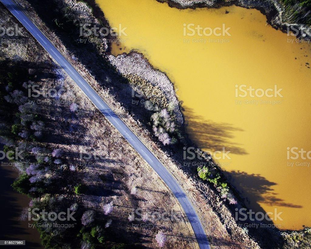 Lakeside Road stock photo