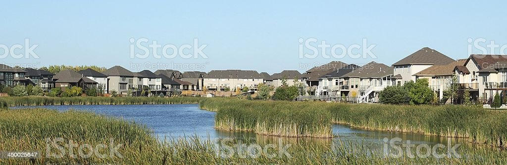 Lakeside Suburb royalty-free stock photo