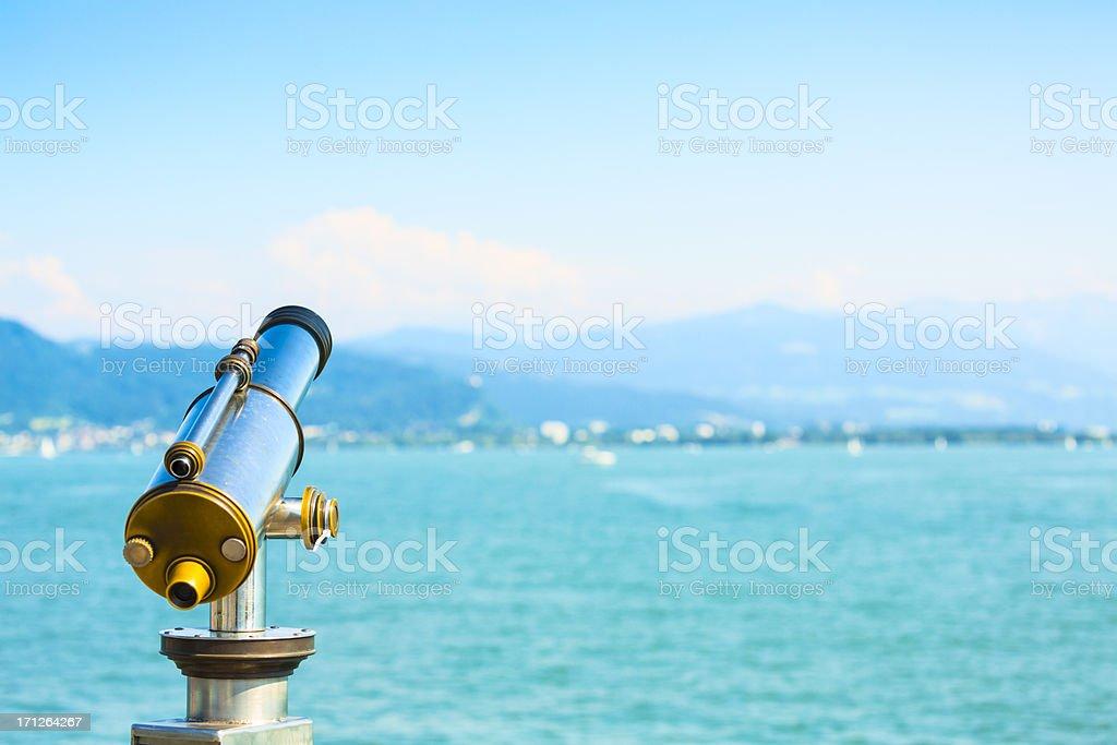 Lakeside telescope royalty-free stock photo