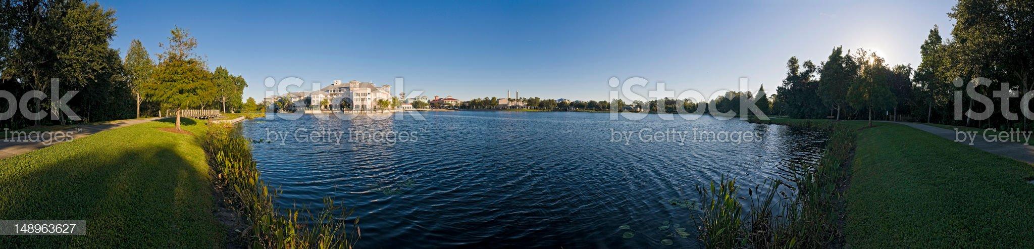 Lakeside town Florida royalty-free stock photo
