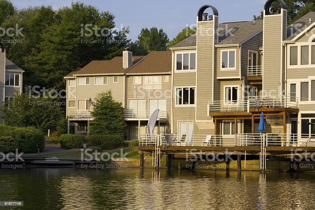 Lakeside Townhouses royalty-free stock photo