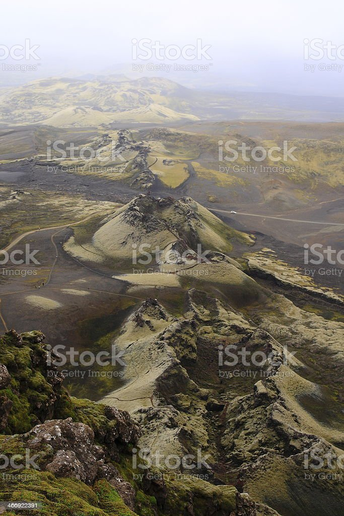 Laki craters royalty-free stock photo
