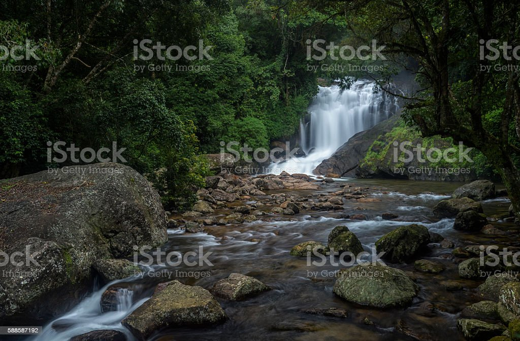 Lakkom Waterfall stock photo