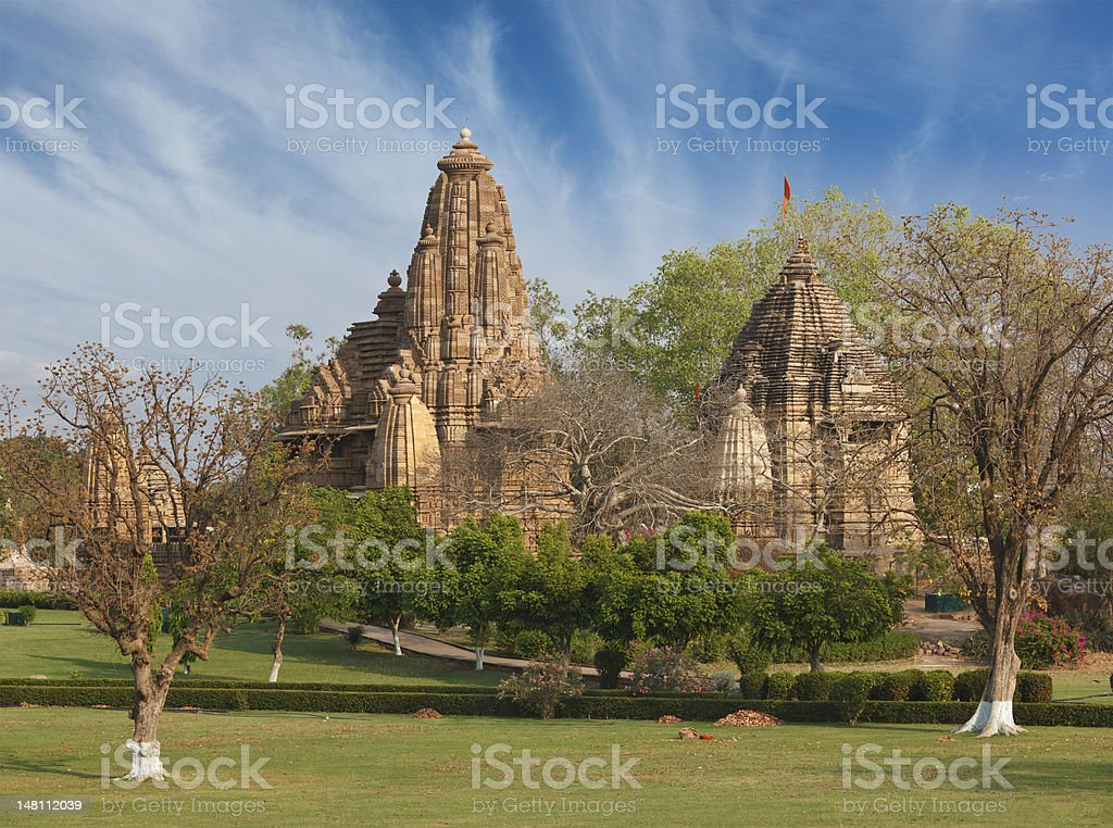Lakshmana and Matangeshwar temples, Khajuraho stock photo