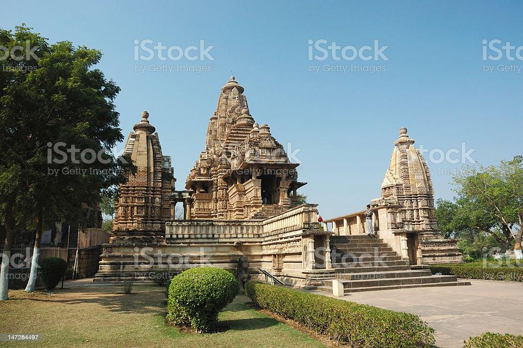 Lakshmana temple at Khajuraho,India,Madhya Pradesh stock photo