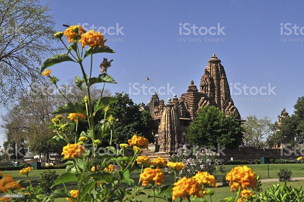 Lakshmana Temple, dedicated to Lord Vishnu, Khajuraho, India stock photo