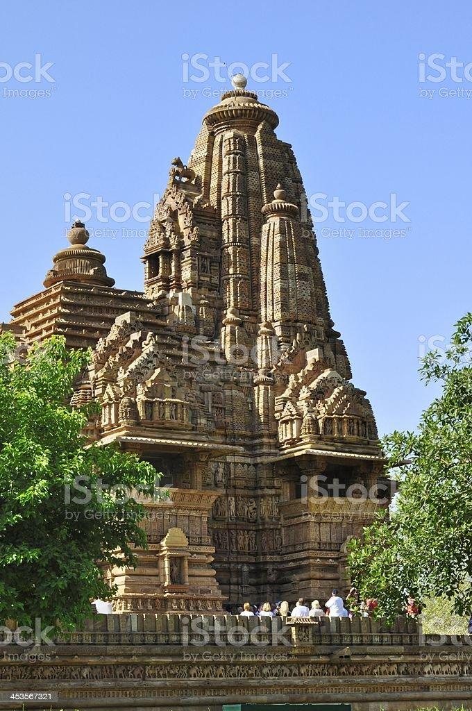 Lakshmana Temple, dedicated to Lord Vishnu, Khajuraho, India, UNESCO site, stock photo