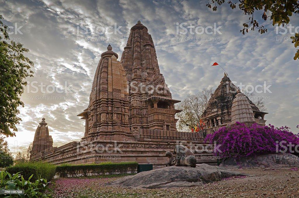 Lakshmana Temple, dedicated to Vishnu, Khajuraho, UNESCO site, India stock photo