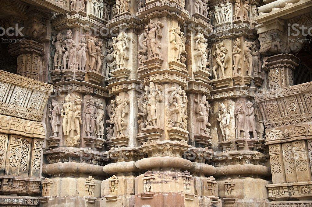 Lakshmana Temple in Khajuraho royalty-free stock photo