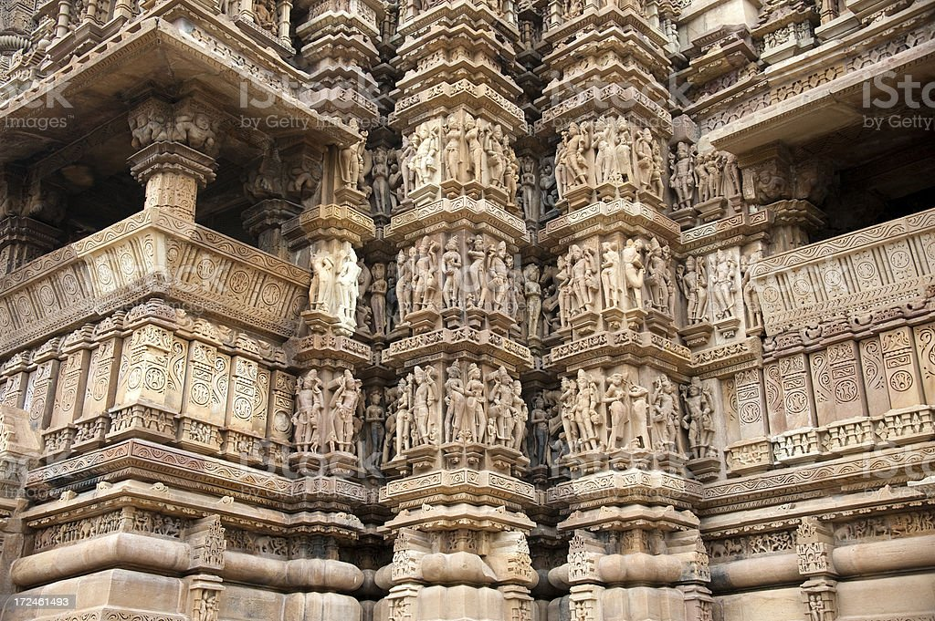 Lakshmana Temple in Khajuraho royalty-free stock photo