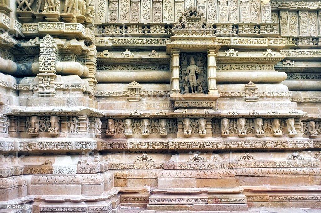 Lakshmana Temple in Khajuraho stock photo