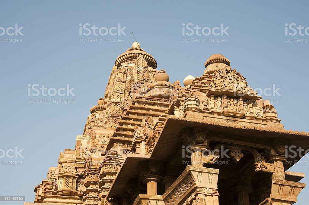 Lakshmana temple, Khahuraho. royalty-free stock photo
