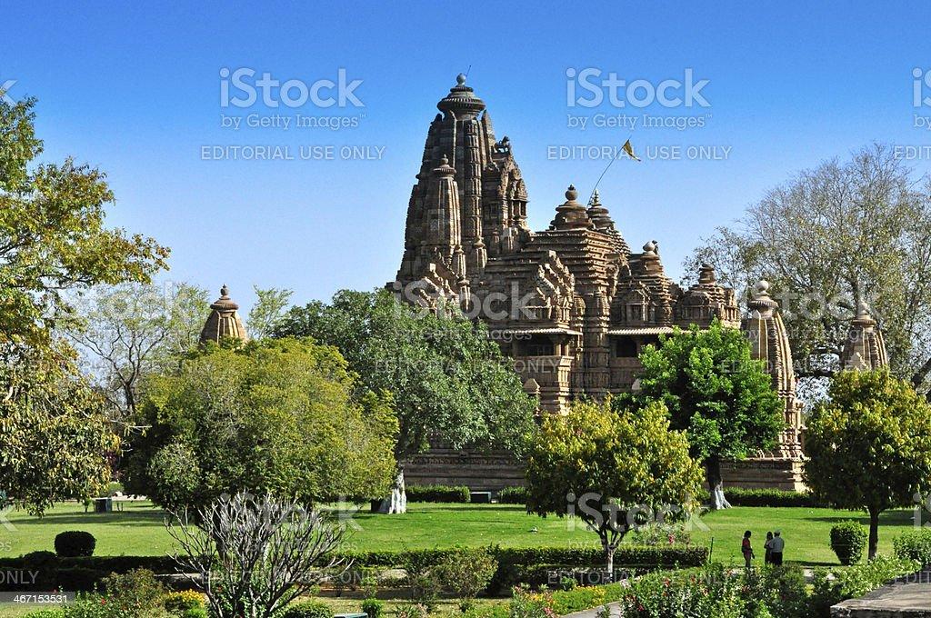 Lakshmana Temple, Khajuraho, India - UNESCO heritage site. stock photo