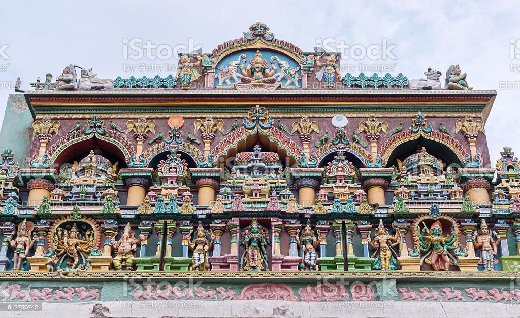 Lakshmi facade at Nagara Manadapam. stock photo