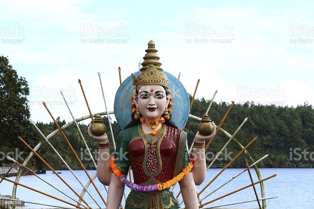 Lakshmi in Grand Bassin, Mauritius stock photo