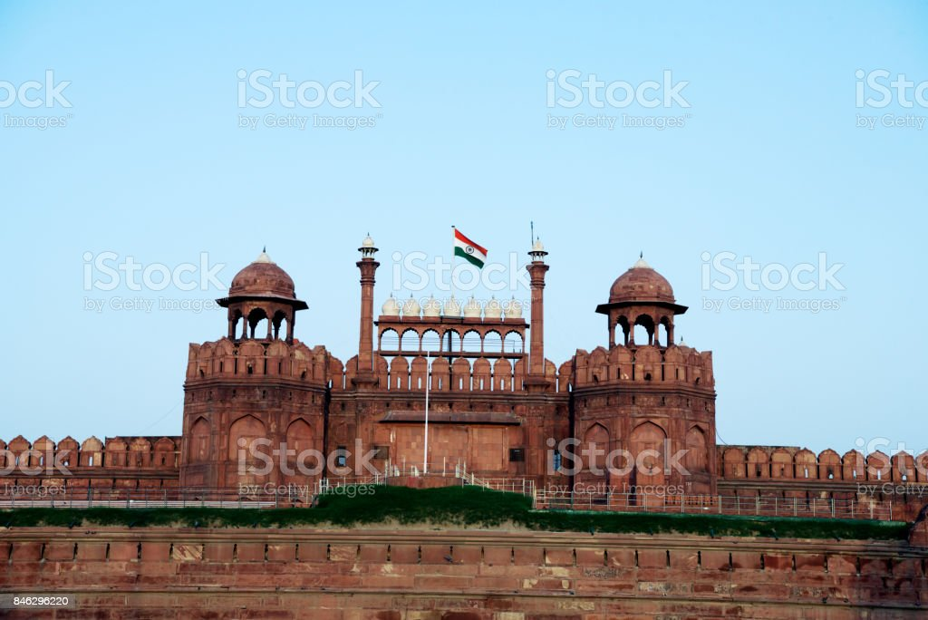 Lal Qila (Red Fort) at Delhi stock photo